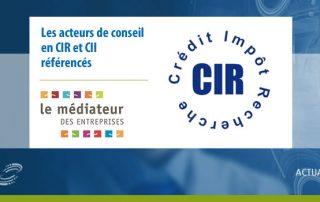 Liste officielle des acteurs du conseil en CIR-CII référencés