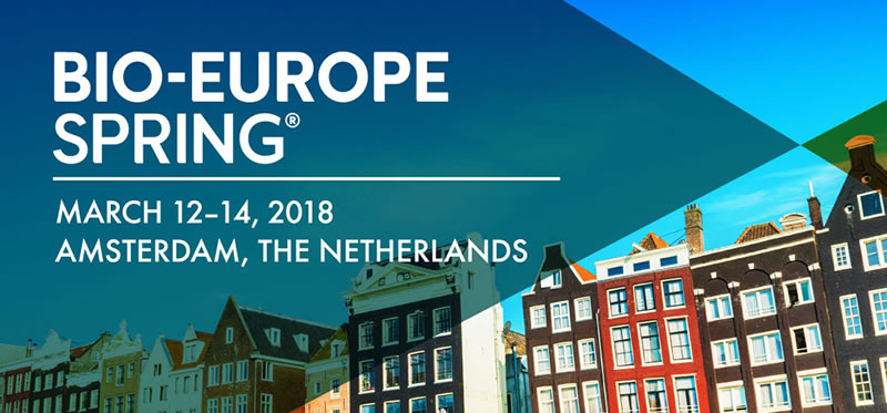 BIO-Europe Spring 2018 in March 12-14 in Amsterdam
