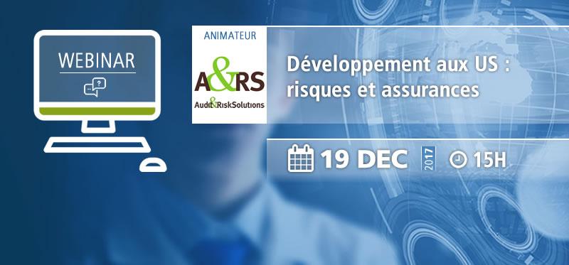 Webinar AFSSI : Développement aux US : risques et assurances