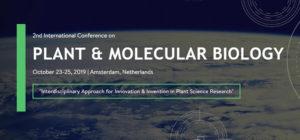 2nd international conference on Plant & Molecular Biology