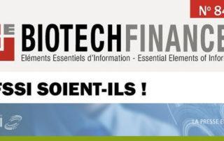 L'AFSSI et Joel Vacus en Une de BiotechFinances n°849 !
