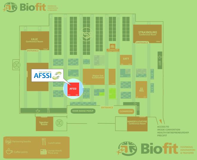 Rejoignez nos membres sur le Pavillon AFSSI à l'occasion de BioFIT 2018 !