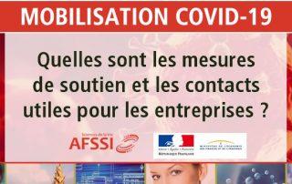 Actualités AFSSI - Spécial COVID-19 - Aides aux entreprises