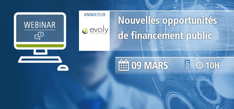 Webinaire AFSSI - Nouvelles opportunités de financement public - Evoly Consulting